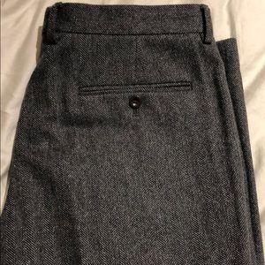 J.Crew Bowery Slim Gray Wool Herringbone Pant